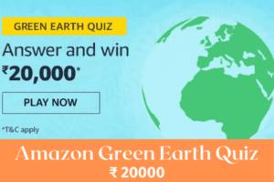 Amazon Green Earth Quiz Answers Win