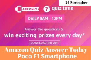 Amazon Quiz 24 November 2019 Answers Win
