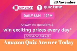 Amazon Quiz 28 November 2019 Answers Win