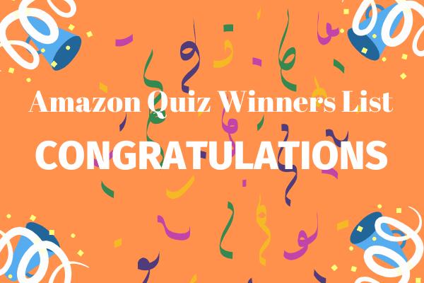 Amazon Quiz Winners List Hindi Queries