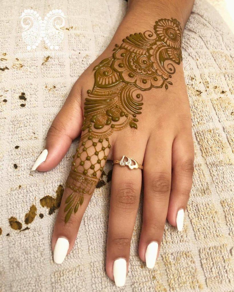 Design for Mehndi on Hand