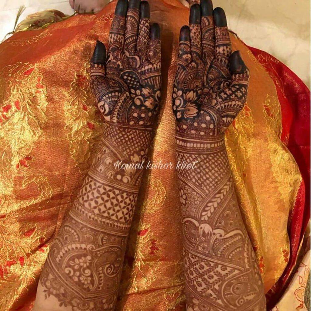 bridal mehndi designs image