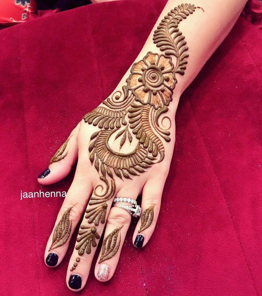 Mehndi Design on Hand