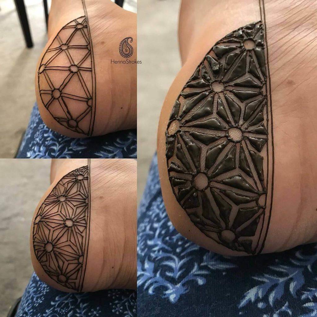 Mehndi Design on Foot