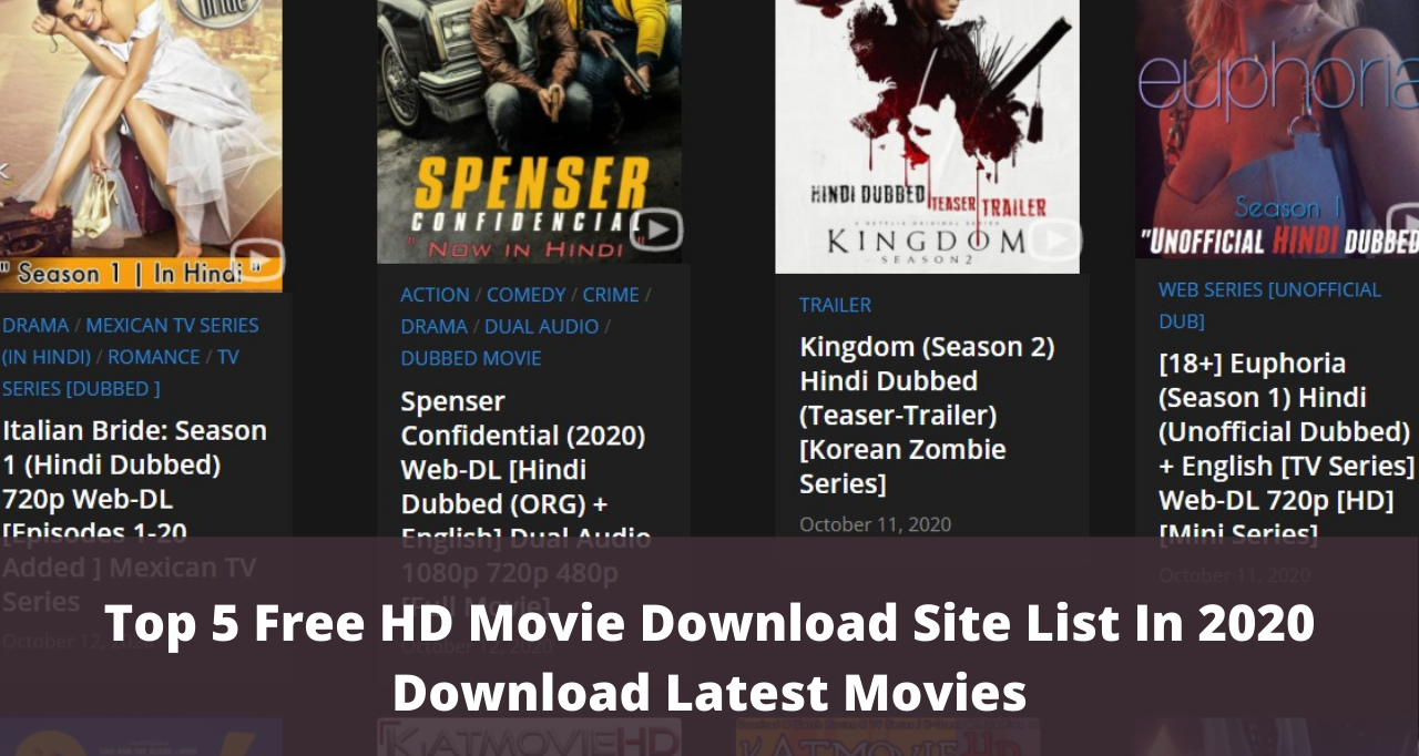 Top 5 Free HD Movie Download Site List In 2020