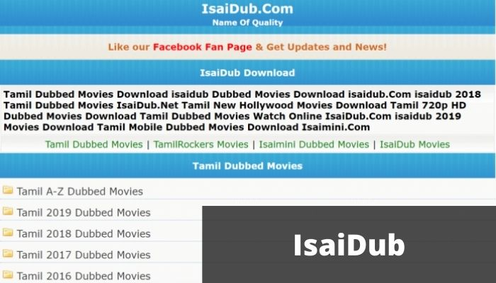 IsaiDub 2021 - Download Free HD New Tamil Dubbed movies