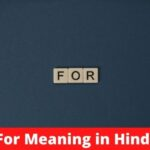 For Meaning in Hindi