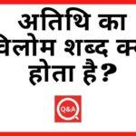 अतिथि का विलोम शब्द क्या होता है? | Atithi Ka Vilom Shabd in Hindi