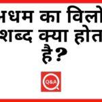अधम का विलोम शब्द क्या होता है Adham Ka Vilom Shabd in Hindi
