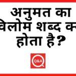 अनुमत का विलोम शब्द क्या होता है? | Anumat Ka Vilom Shabd in Hindi