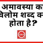 अमावस्या का विलोम शब्द क्या होता है? | Amavasya Ka Vilom Shabd in Hindi