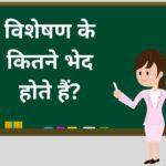 विशेषण के कितने भेद होते हैं? | Visheshan Ke Kitne Bhed Hote Hain