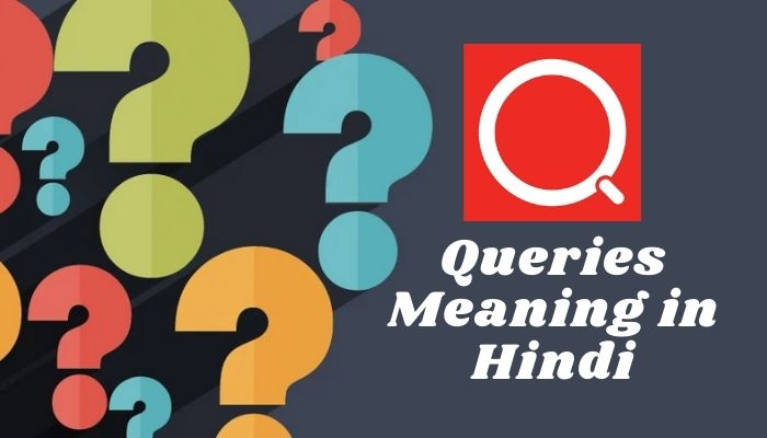Queries Meaning in Hindi Query Meaning in Hindi