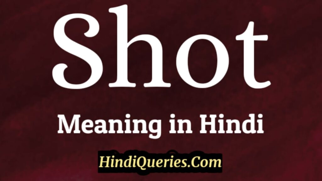 Shot Meaning in Hindi