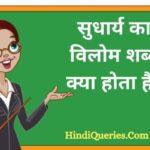 सुधार्य का विलोम शब्द क्या होता है? | Sudharya Ka Vilom Shabd in Hindi