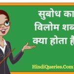 सुबोध का विलोम शब्द क्या होता है?   Subodh Ka Vilom Shabd in Hindi