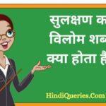 सुलक्षण का विलोम शब्द क्या होता है?   Sulakshan Ka Vilom Shabd in Hindi
