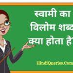 स्वामी का विलोम शब्द क्या होता है?   Swami Ka Vilom Shabd in Hindi