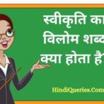 स्वीकृति का विलोम शब्द क्या होता है? | Swikriti Ka Vilom Shabd in Hindi