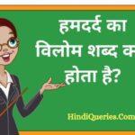 हमदर्द का विलोम शब्द क्या होता है? | Hamdard Ka Vilom Shabd in Hindi