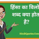 हिंसा का विलोम शब्द क्या होता है? | Hinsa Ka Vilom Shabd in Hindi