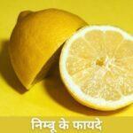 Nimbu Ke Fayde | Benefits of lemon In Hindi