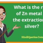 What is the role of Zn metal in the extraction of silver