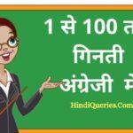 1 से 100 तक गिनती अंग्रेजी में | 1 To 100 Numbers in English