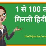 1 से 100 तक गिनती हिंदी में (1 To 100 Numbers in Hindi)