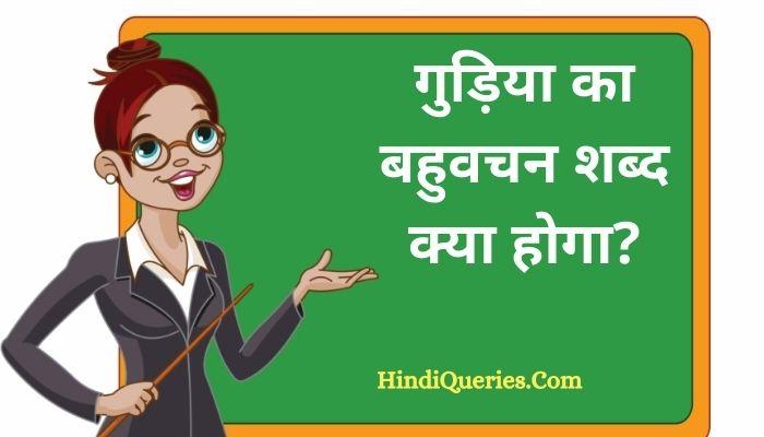गुड़िया का बहुवचन शब्द क्या होगा?   Gudiya Ka Bahuvachan Shabd