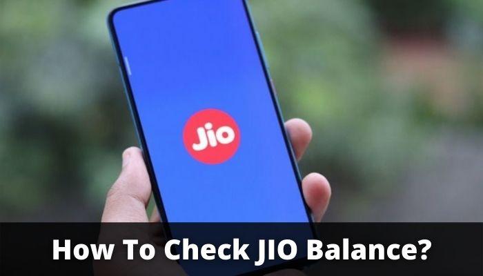 How To Check JIO Balance?